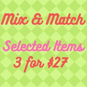 ✨ SALE ✨  3 Selected Items for $27